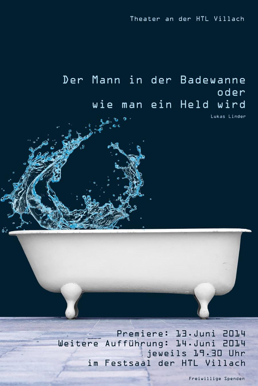 """Plakat """"Der Mann in der Badewanne"""""""