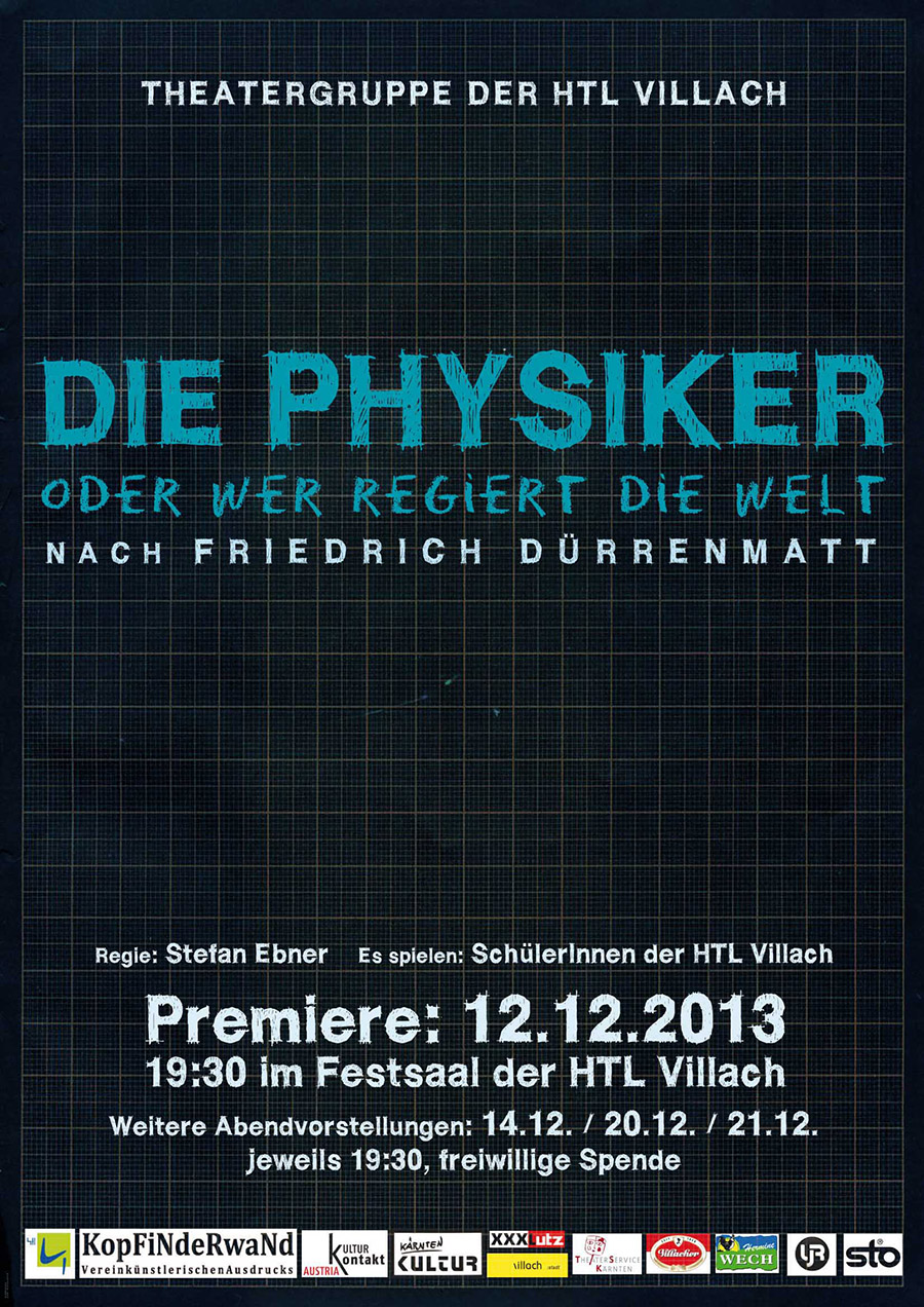 """Plakat """"Die Physiker"""""""