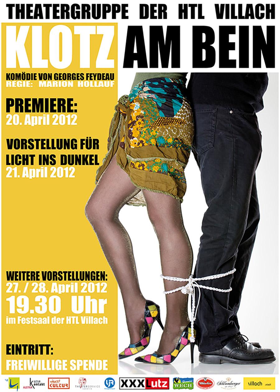 "Plakat ""Klotz am Bein"""